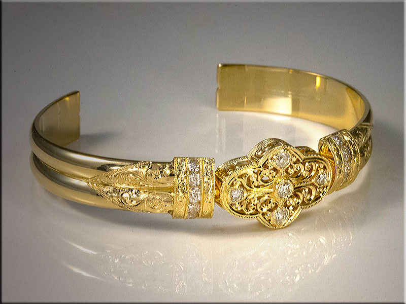 Custom gold bracelet