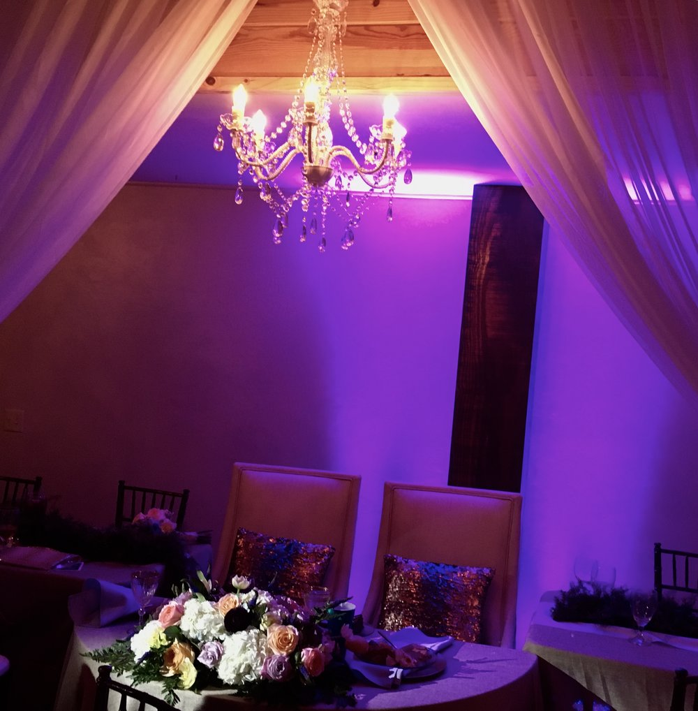 Wedding Planner, Wedding DJ, Lighting, Photo Booth, Wedding Design, Wedding Decorations, Drapery, Uplighting, Fort Smith, Fayetteville, Tulsa, Arkansas, Oklahoma