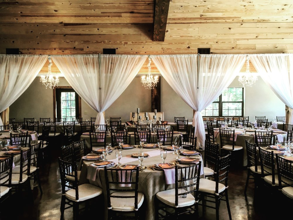 Wedding Reception and Ceremony Design - The Pines at Moser Farms