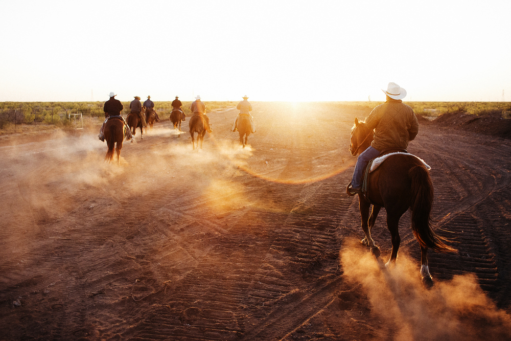 When the cowboys go out to drive the cattle, they ride from one end of the pasture to the other. By the time they reach the far end, they'll know where all the cows are, and they turn around and drive them all back.
