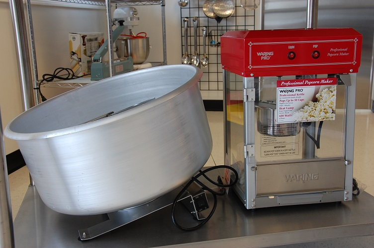 Popcorn Maker and mixing drum.JPG