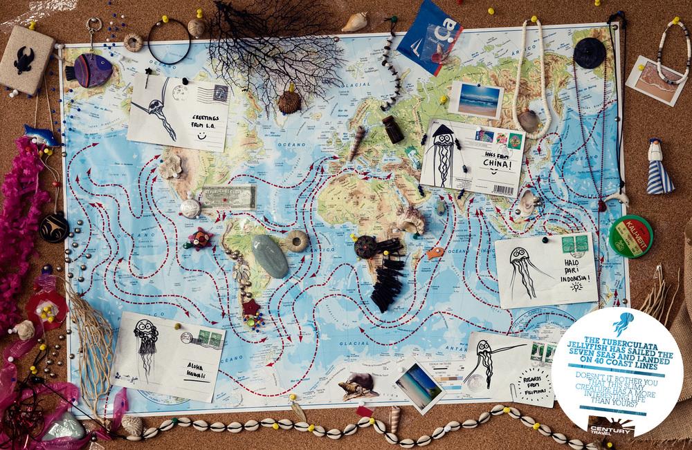 """Nos basamos en un hecho muy cierto: """"Hay bichos insignificantes que viajan más que tú"""".Así que cogimos esa idea e hicimos una serie de gráficas bien monas con bichos no tan monos. La campaña está compuesta por tres gráficas, pero yo sólo participé en las dos que están aquí expuestas."""