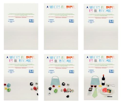 Imagen: gif en el que papeles de diferentes colores se convierten poco a poco en regalos.