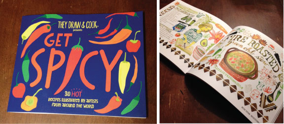 Get Spicy! cookbook from They Draw and Cook.