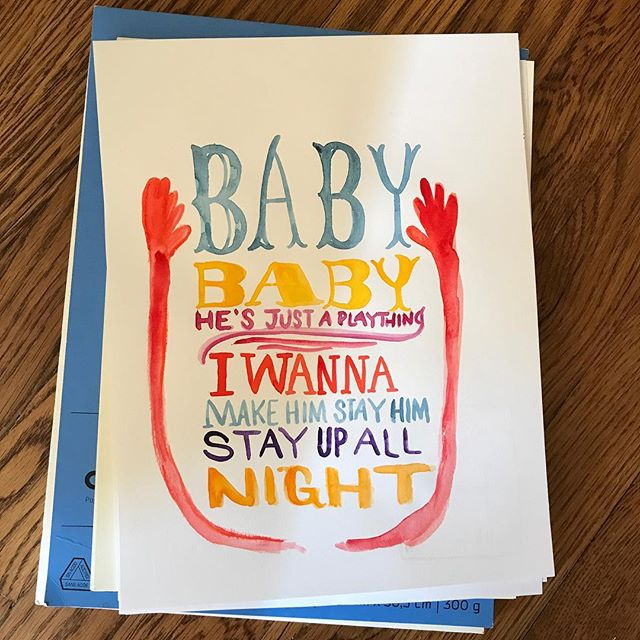 Day 91 #100DaysOfGood: officially on #vacation and making my #baby stay up all night. . . . . . . . . . . . . . . . . #drawing #paint #watercolor on #bristol #paper #mitzie #testani #ink  #sketchdaily #sketchaday #artdaily2017 #calledtobecreative #creativityfound #makersgonnamake #becreative #liveauthentically #doitfortheprocess #artistsofinstagram #365daysofpaint  #illustrationartists #illustration #editorial  #handlettering  #the100dayproject  #nophotoshop #lettering  #recipe