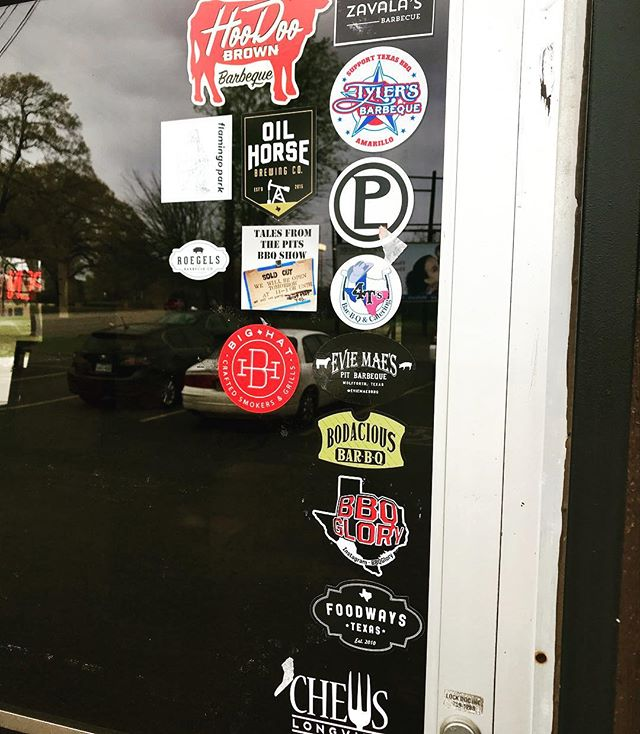 Big Hat has joined some good company on the Bodacious front door. #ilovemybighat #bbq #bbqsmoker