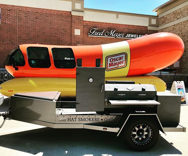 The Big Hat Trailer is  officially the 2nd coolest thing on the road today. #ilovemybighat #weinermobile