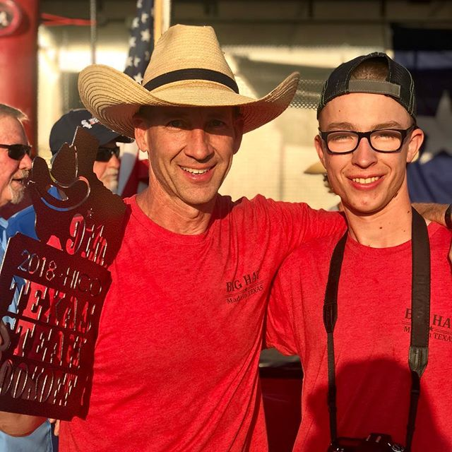 Another great day for Big Hat at the Hico Steak Cook Off. 9th overall, met some cool people, sold some smokers and most important time with friends and family. #ilovemybighat #130teams #hicosteakcookoff #bighatbbq