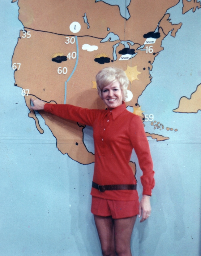 My mother, Jane Martin when she was a weather girl at WCHS-TV in Charleston, WV.