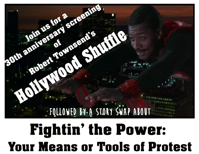 Fill Me In English, Beans, Story Swap, Hollywood Shuffle, Fightin' the Power, Impact Hub Oakland, March 2017.png