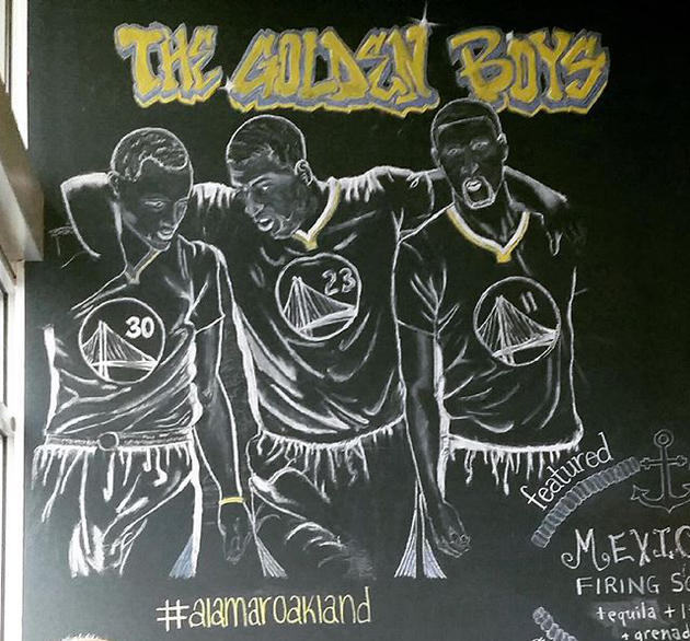 Warriors Chalk Sketch Alamar Oakland California June 2017.jpg