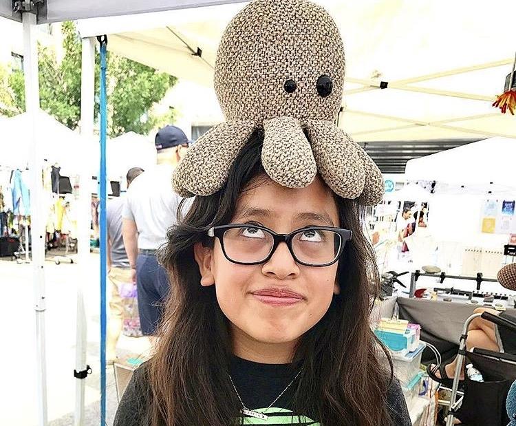 Kids love our unique Octopals! Shown for Size.