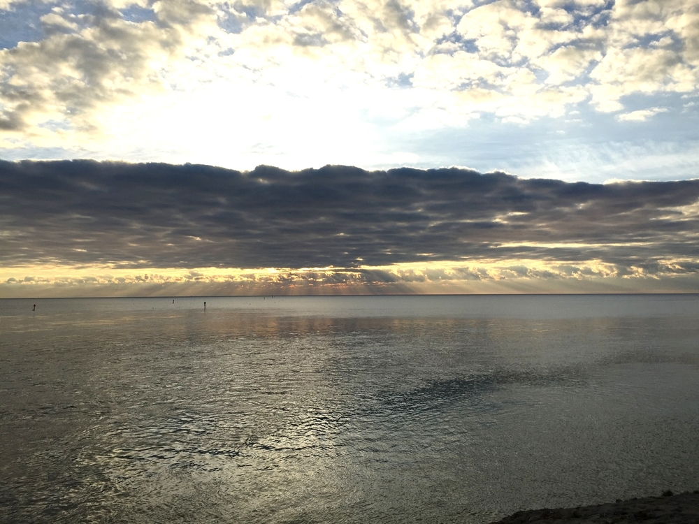 sunrise viewed from the bridge to Islamorada
