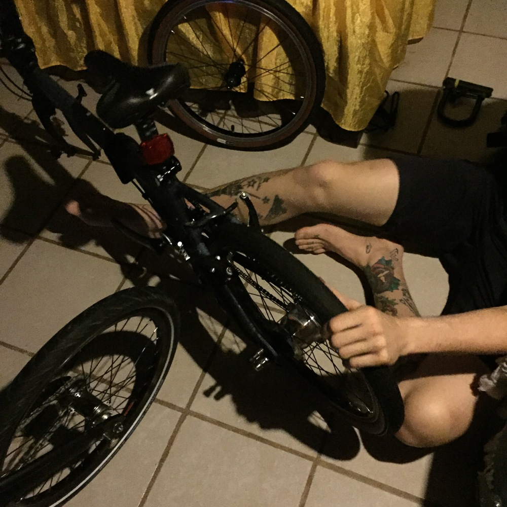 assembling bikes
