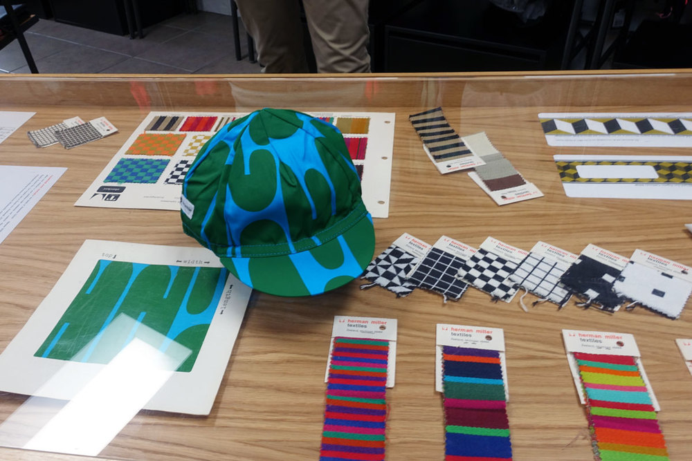 The Stage 5 cap and some Herman Miller inspiration at the Rapha popup shop in Venice, CA
