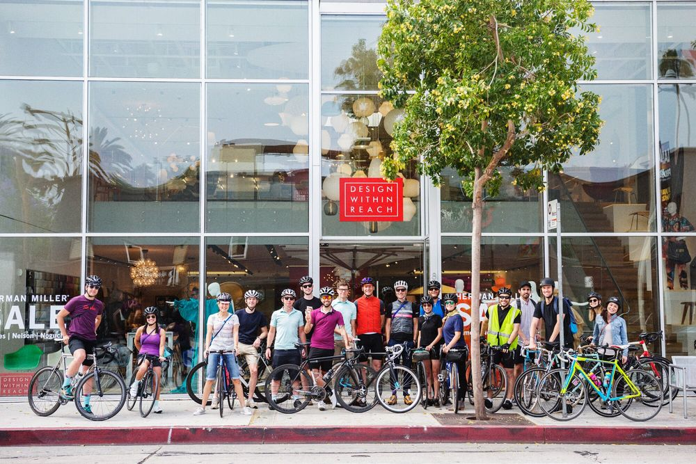 Rapha x Herman Miller Architecture Ride start at DWR in West Hollywood  photo: Jordan Clark Haggard