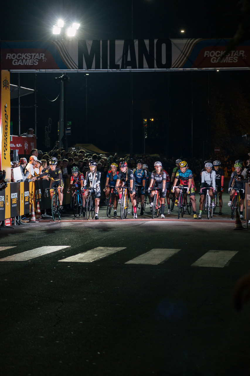 A small but growing field of women race in Milan, photo courtesy of @Tornanti_cc