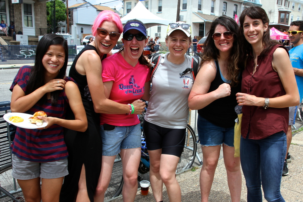 Members of Women Bike PHL Racing