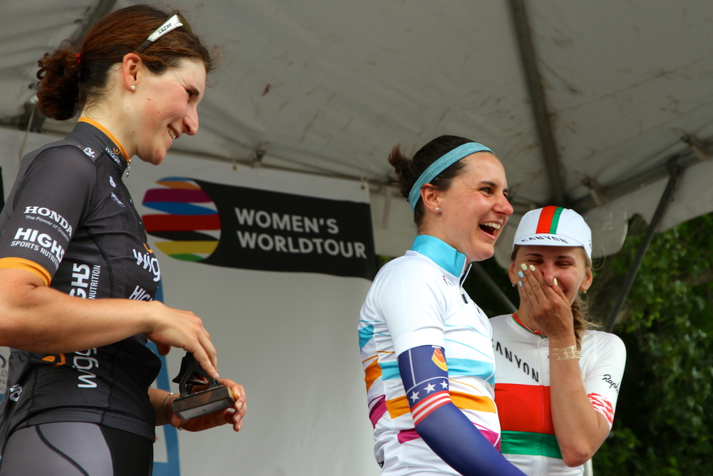 A joyful podium