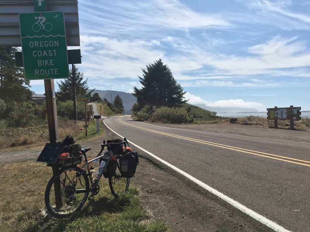 Riding down the Oregon coast is so gorgeous, and it's marked for cyclists the entire way.