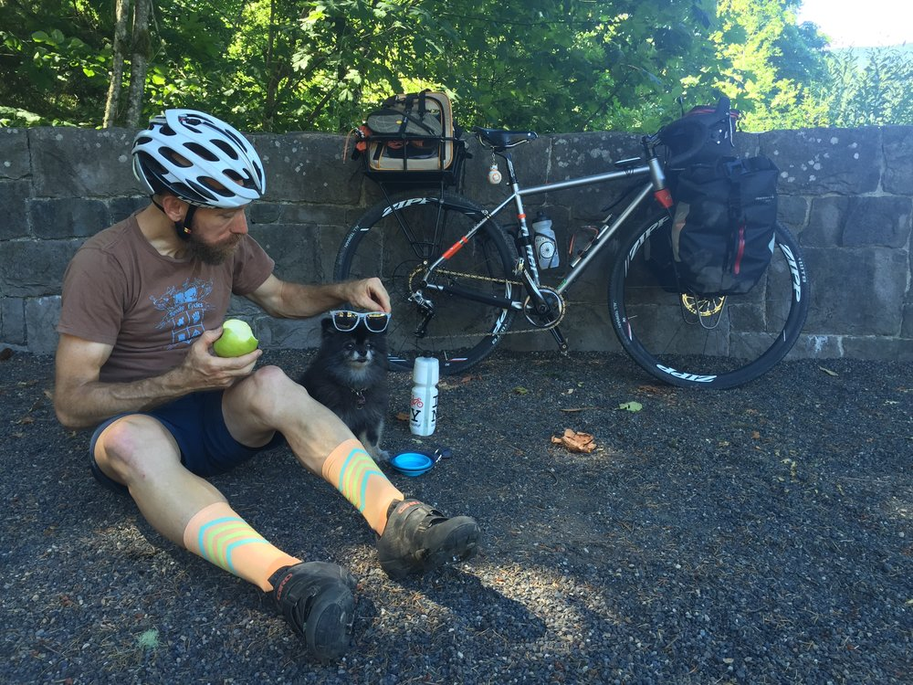 The tour has been almost entirely solo, but I was lucky enough to to catch my friend David Wilcox of The Athletic on my way out of Portland for a day of riding.