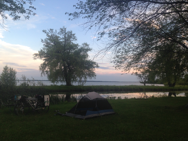 DIY campsite in the Upper Canada Migratory Bird Sanctuary.