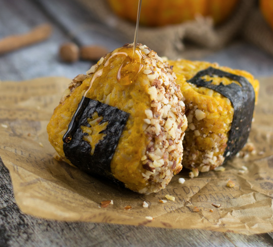 - Swap your traditional rice cakes for these seasonal Onigiri.