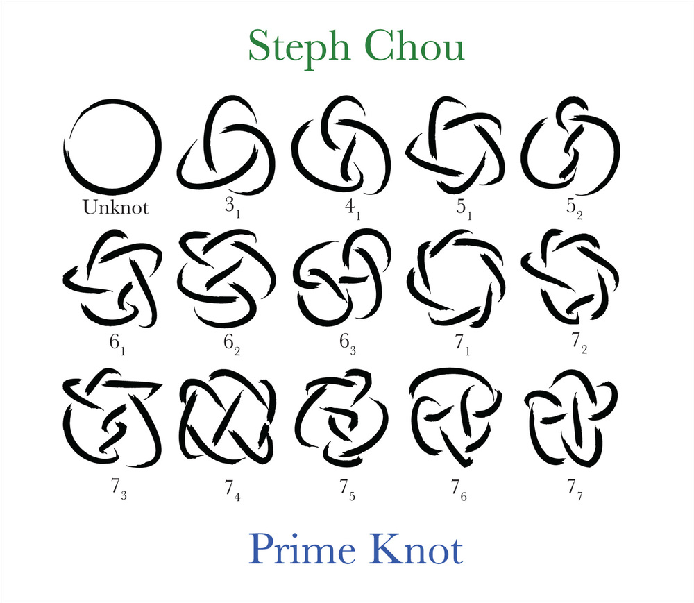 Prime Knots And Jasmine Flower Stephanie Chou
