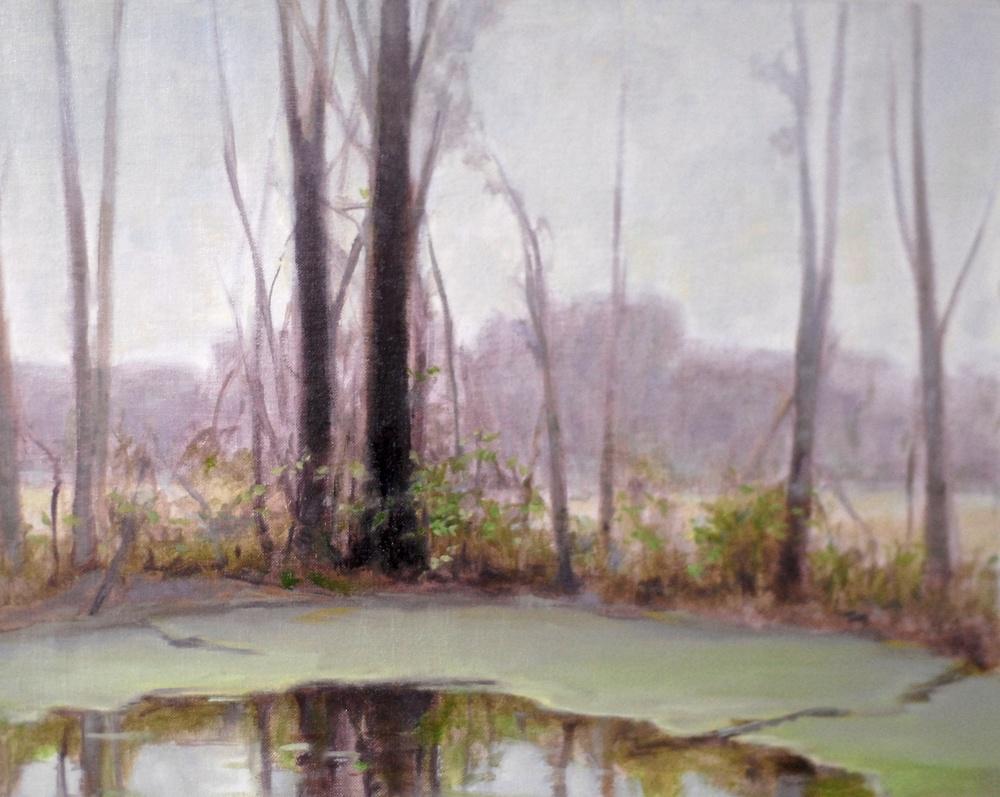 The Secret Pond. 12 x 16. Oil on linen panel.
