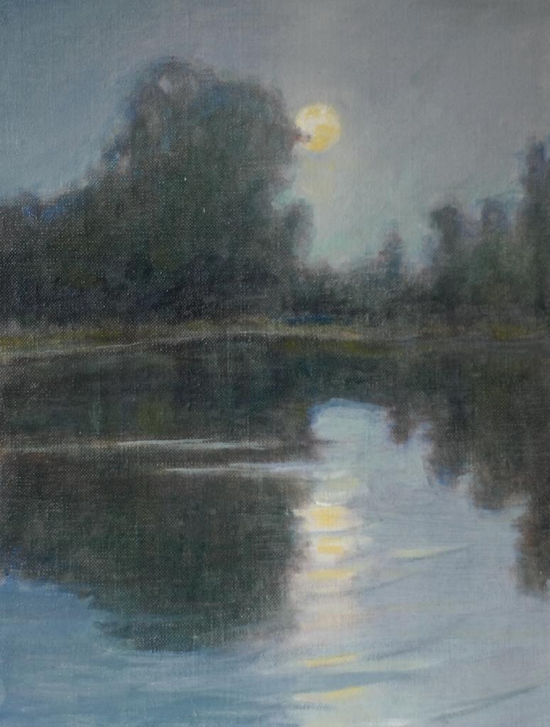Nocturne (sketch). 8 x 10. Oil on linen panel.