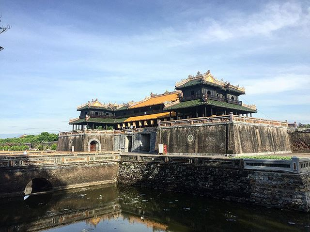 After establishing the last Vietnamese imperial dynasty, Nguyễn Ánh built his capital at Hue in 1804. .  #travel #traveller #travelers #traveling #travelling #travelblogger #instatravel #instatravelling #travels #wander #wanderlust #photographer #cool #awesome #photo #photography #photograph #nomad #nomadlife #ontheroad #instadaily #instagood #travelgram #vietnam #hue #history #palace #culture