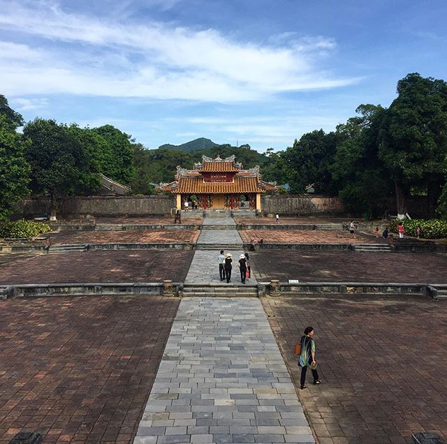 By far the subtlest tomb I've ever seen.  #travel #traveller #travelers #traveling #travelling #travelblogger #instatravel #instatravelling #travels #wander #wanderlust #photographer #cool #awesome #photo #photography #photograph #nomad #nomadlife #ontheroad #instadaily #instagood #travelgram #vietnam #hue #culture #history #asia