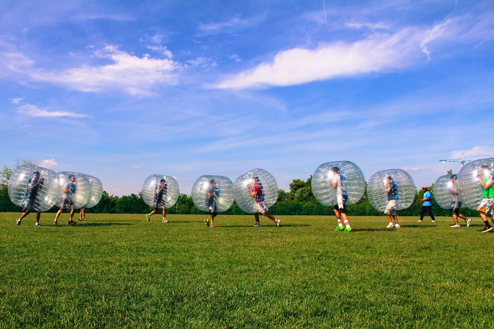 Capital One Bubble Soccer Rental