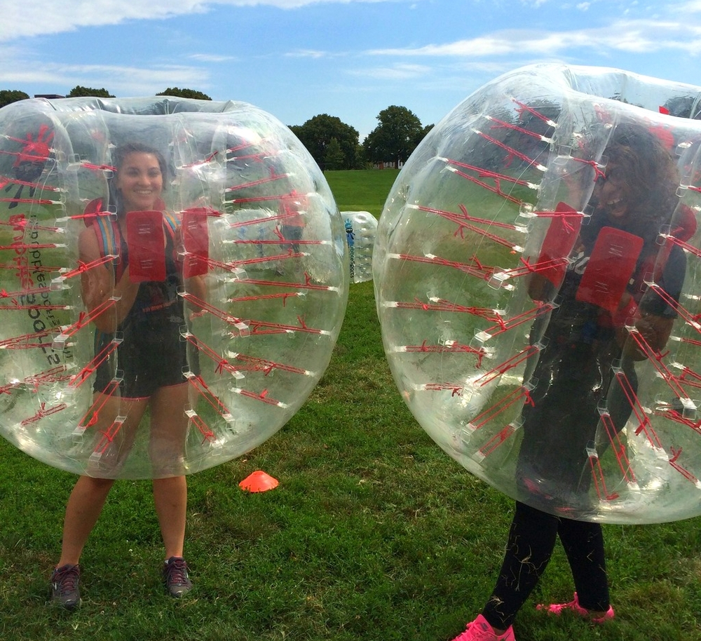 Yelp Baltimore Bubble Soccer Event