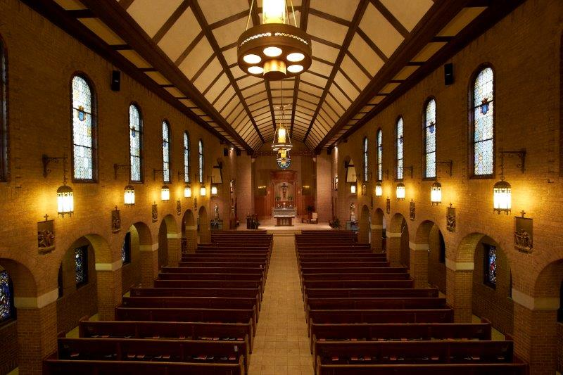 The interior of St. Francis church in Brainerd, MN.