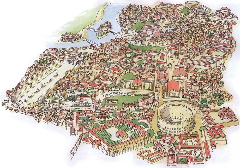 Ancient Rome, the chaotic but smart result of thousands of years of experimentation on how to build successful places.
