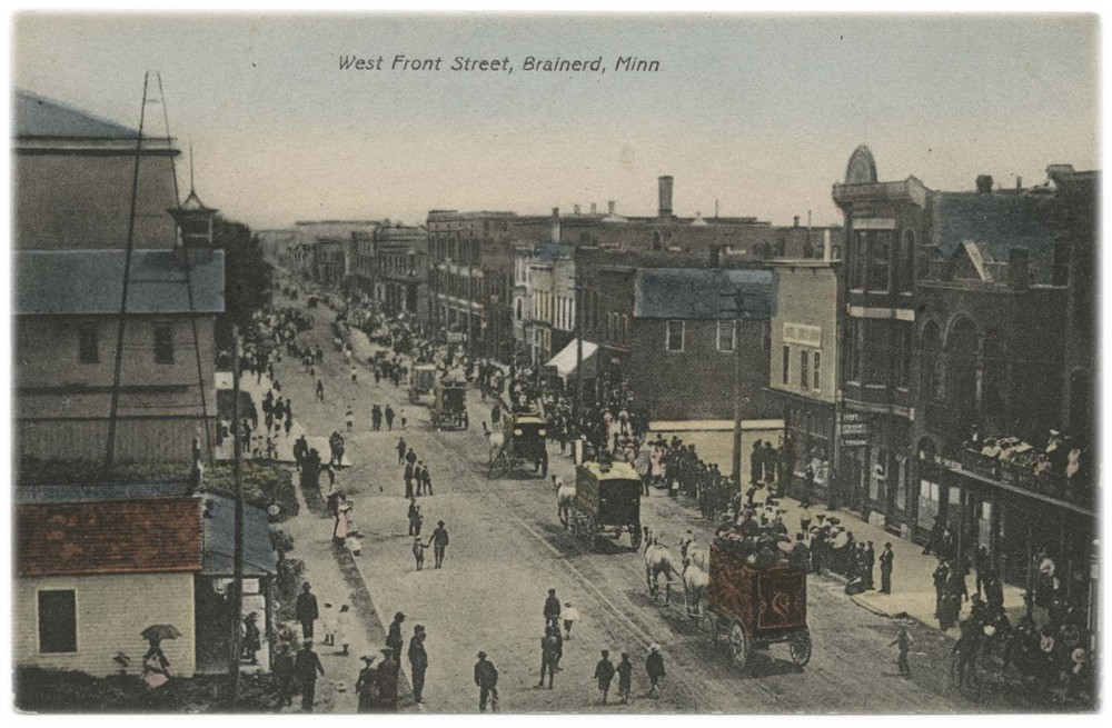 Chaotic but smart in America's Midwest. This is Brainerd, MN, in 1904. It was developed on the same, basic, human-scaled model as thousands of years of cities that preceded it.