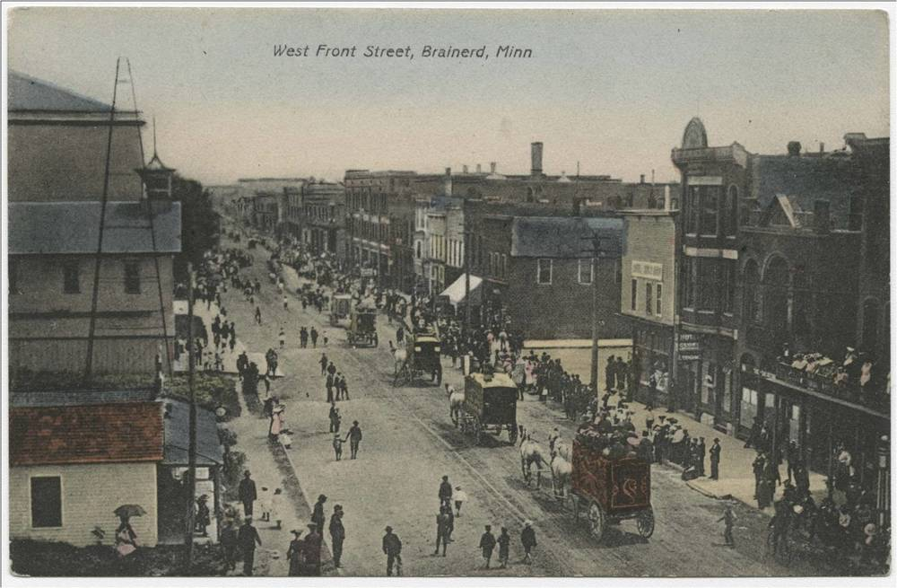 Brainerd, MN. Front Street. 1894
