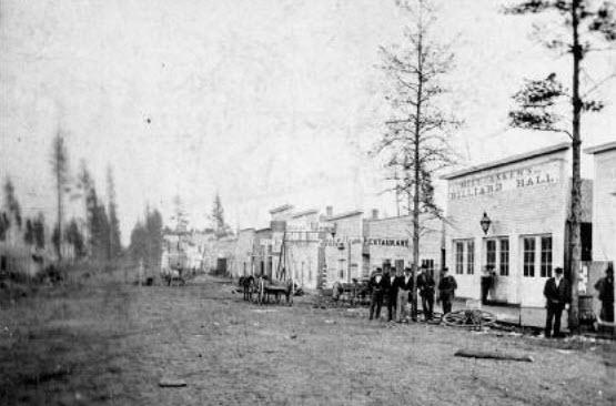 Brainerd, MN. Front Street. 1870