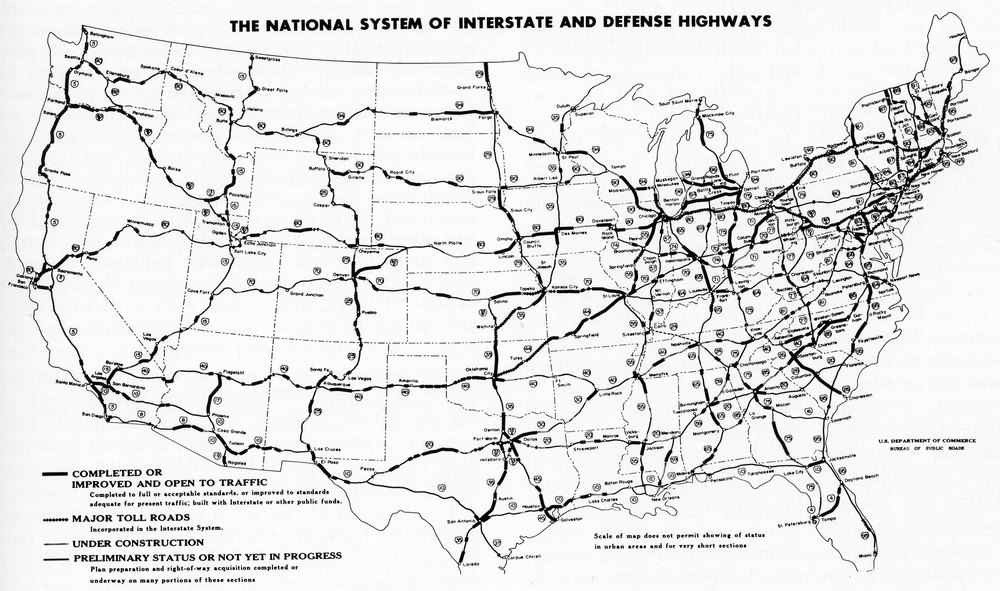The federal interstate system; how quaint.