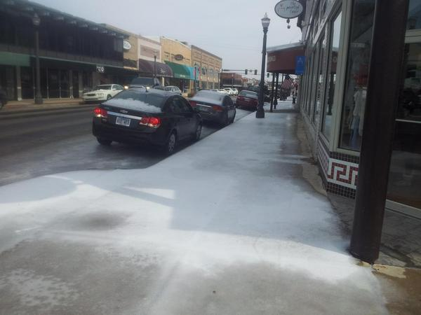 To clear the sidewalk or the travel lanes on our main street? It's a matter of priorities.