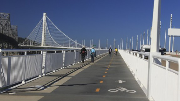 San Francisco - Oakland bay bridge protected bike lane
