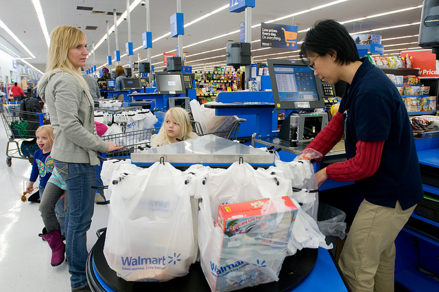 The average Walmart customer has a household income of less than $40,000 a year.