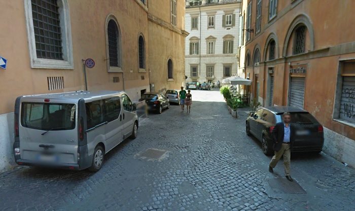 Rome, Italy. 25 feet wide. Spacious, even with on street parking.