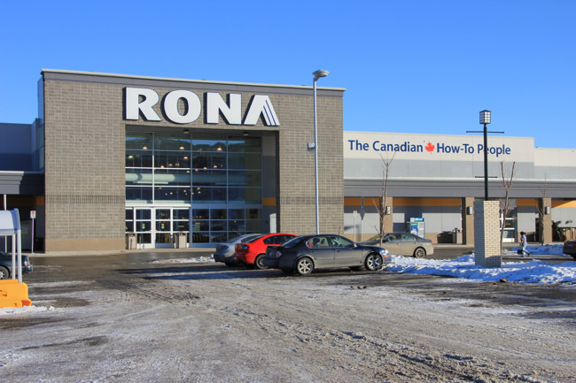Rona is a Canadian hardware chain. Its natural habitat is in a big parking lot like Home Depot. Photo by Scott Lewis on Flickr.