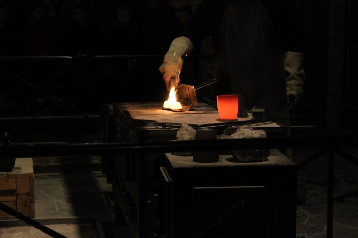You could watch gold being melted down and poured into an ingot.