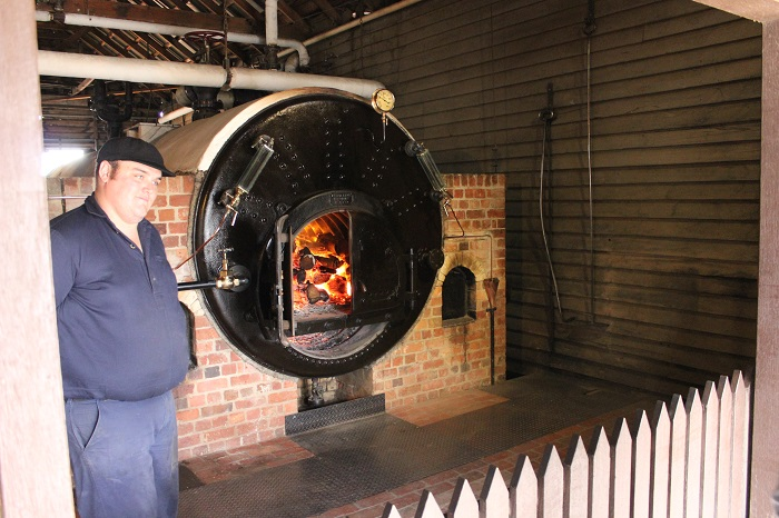 A functioning boiler.