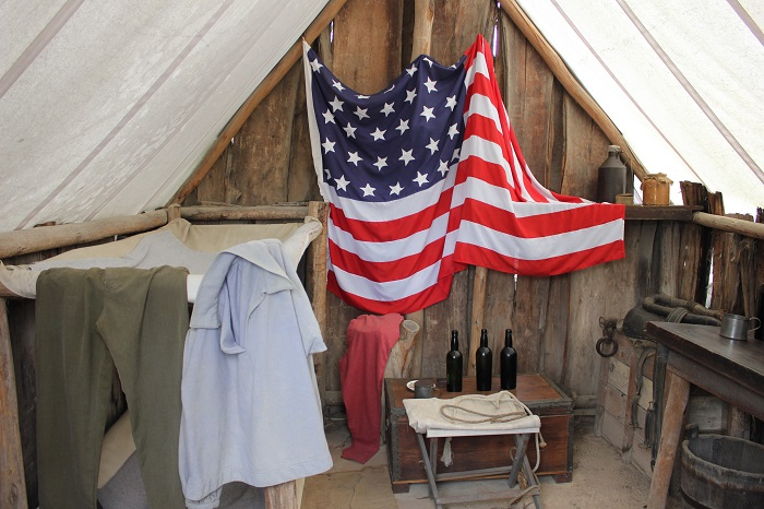 An American tent.