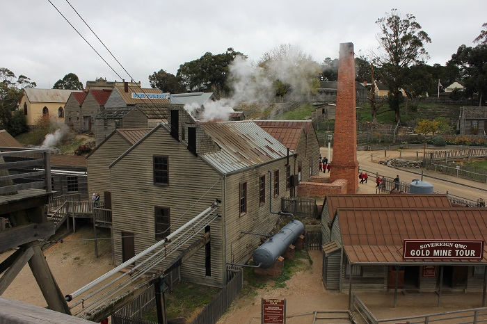 A lookout over Sovereign Hill.