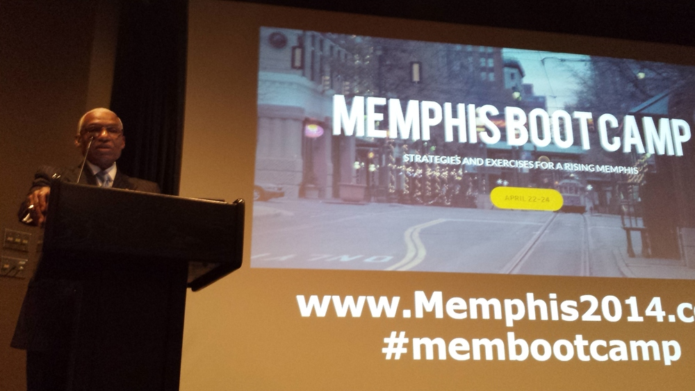Mayor A.C. Wharton kicks of the Memphis Strong Towns Boot Camp